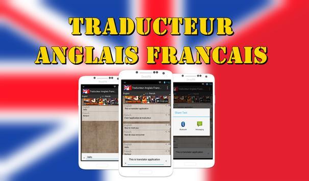 Translator French English poster