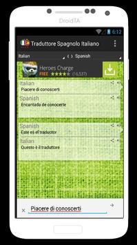 Traduttore Italiano Spagnolo apk screenshot