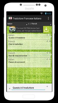 Traduttore Italiano Francese apk screenshot