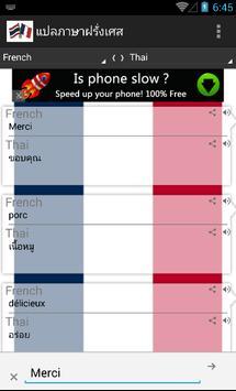 แปลภาษา ฝรั่งเศส - ไทย ออนไลน์ apk screenshot