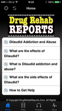 Dilaudid Addiction and Abuse poster