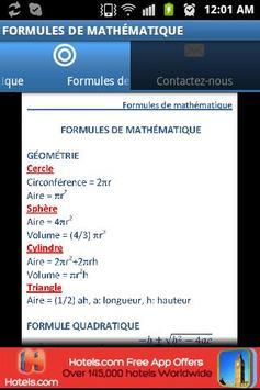 Formules de mathématique poster