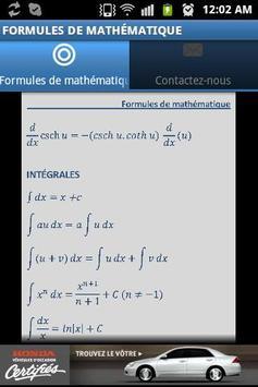 Formules de mathématique apk screenshot