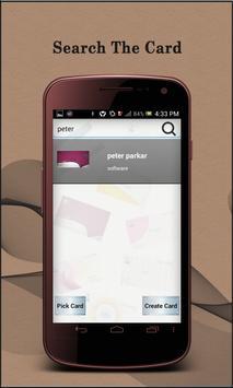 VCard apk screenshot