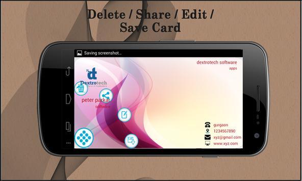 Visiting Card Organizer apk screenshot