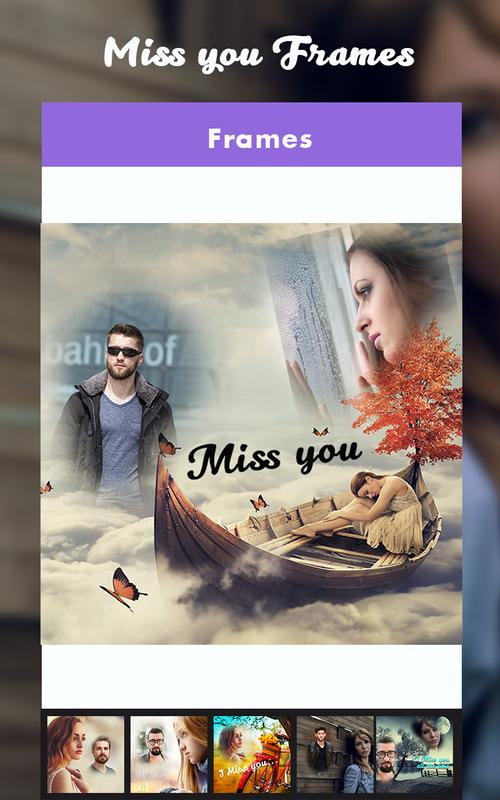 missyoufx miss you photo frame apk screenshot