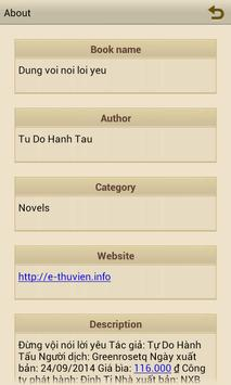 """Ebook """"Đừng vội nói lời yêu"""" apk screenshot"""