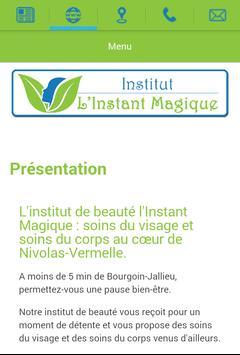 Institut l'Instant Magique apk screenshot
