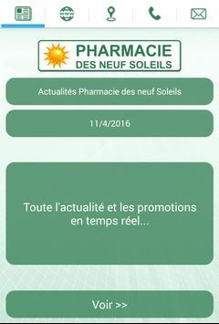 Pharmacie des neuf Soleils poster