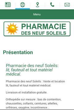Pharmacie des neuf Soleils apk screenshot