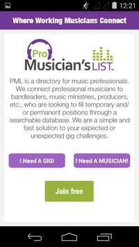 Pro Musician's List apk screenshot