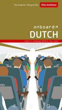 Onboard Dutch Phrasebook poster