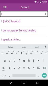 Onboard Emirati Arabic apk screenshot