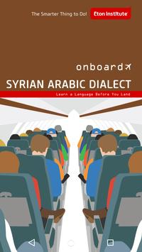 Onboard Syrian Arabic poster