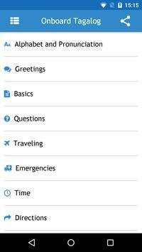 Onboard Tagalog Phrasebook apk screenshot