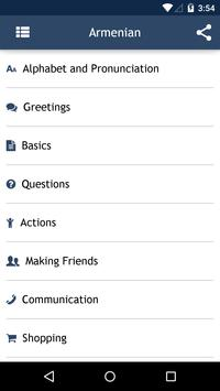 Armenian Phrasebook apk screenshot
