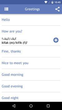 Lebanese Arabic Phrasebook apk screenshot