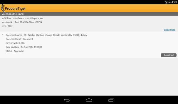 ProcureTiger apk screenshot