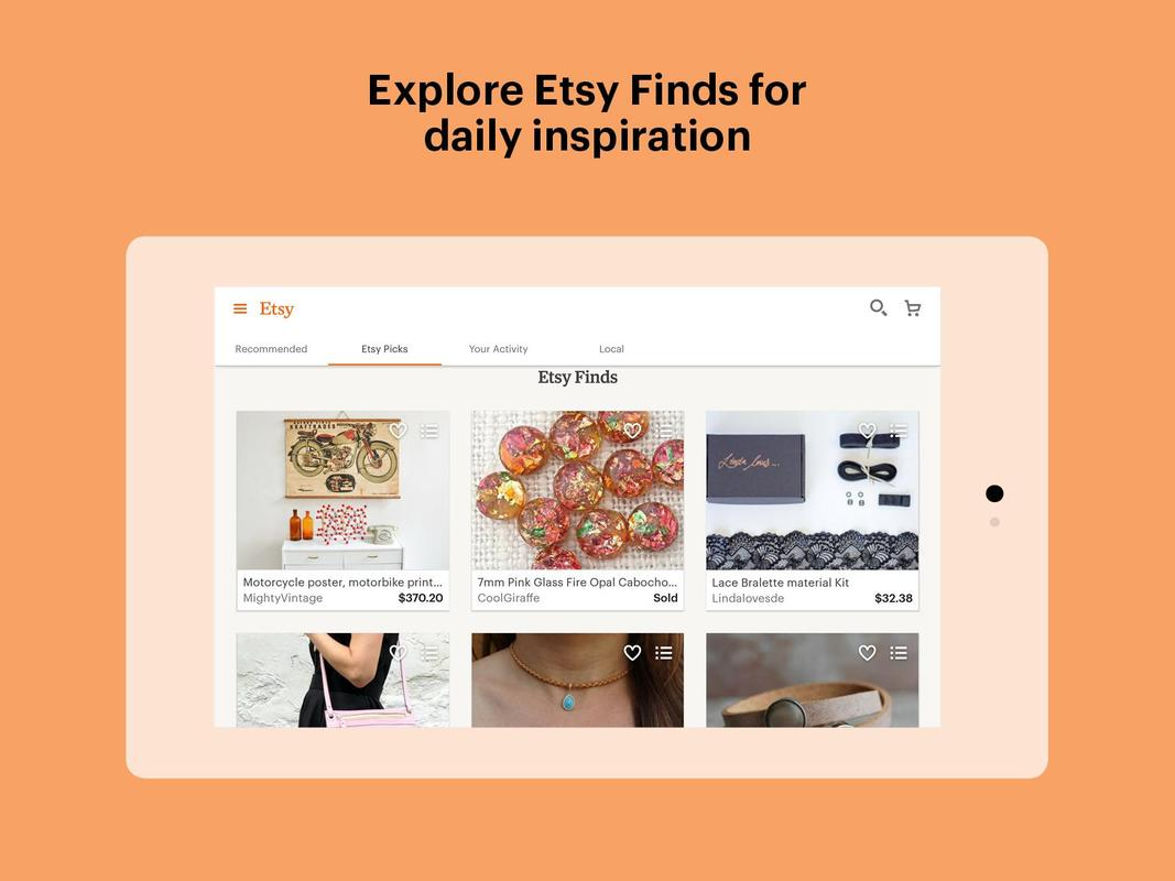 etsy handmade vintage goods apk download free shopping app for android. Black Bedroom Furniture Sets. Home Design Ideas