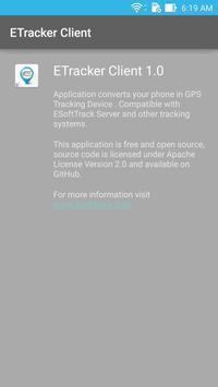 ETracker Client apk screenshot