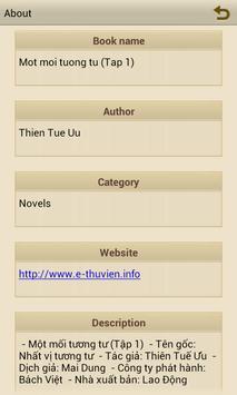 Ebook Một mối tương tư (Tập 1) apk screenshot