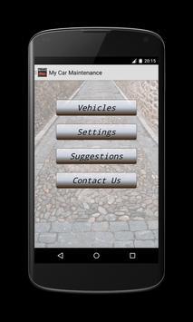 My car maintenance poster
