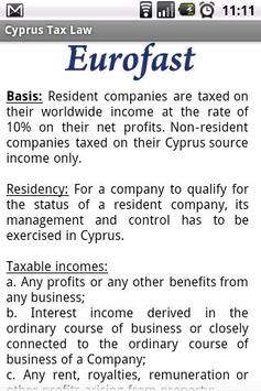 Cyprus Tax Law poster