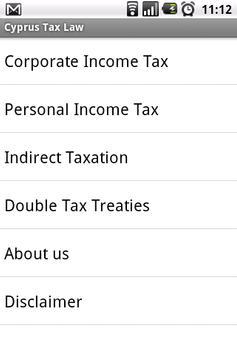 Cyprus Tax Law apk screenshot