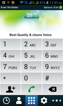 EvanTel Dialer apk screenshot