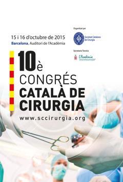X Congrés Català Cirurgia poster