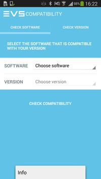 EVS Software Compatibilities apk screenshot