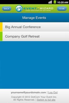 Event Wizard Mobile apk screenshot
