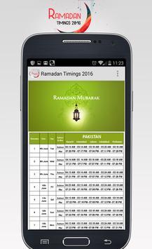 Ramadan Timings 2016 apk screenshot