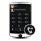 Dark WP7 theme for exDialer icon