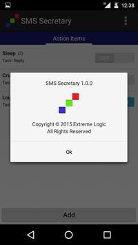 SMS Secretary apk screenshot