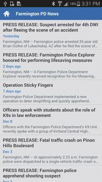 Farmington Police Department apk screenshot
