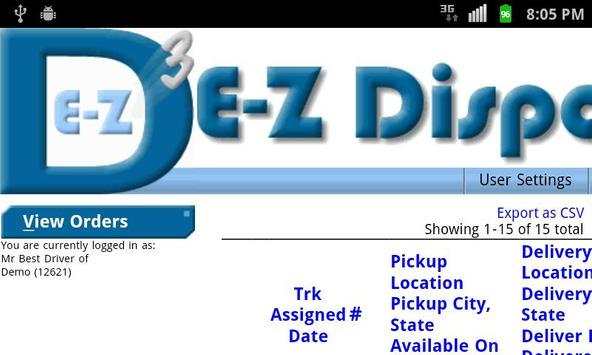EZDispatch apk screenshot