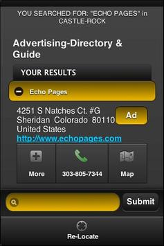 Echo Pages Yellow Pages apk screenshot