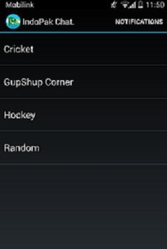 Pakistan vs India Chat room apk screenshot