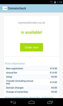 easyname Domaincheck & WHOIS apk screenshot