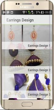 Earrings Quilling Design poster