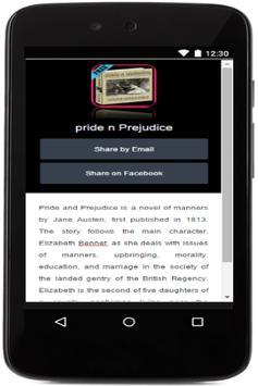 Novel:Pride & Prejudice apk screenshot