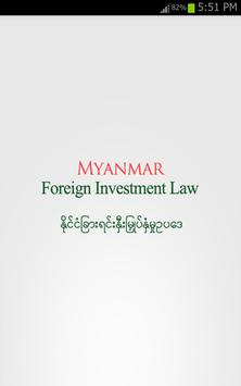 Myanmar Foreign Investment Law poster