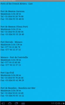 Port Directory French Riviera apk screenshot