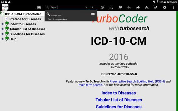 10-CM TurboCoder FREE Trial apk screenshot