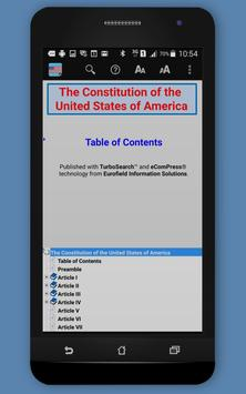 U.S. Constitution TurboSearch apk screenshot