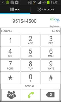 ECOCALL DIALER apk screenshot