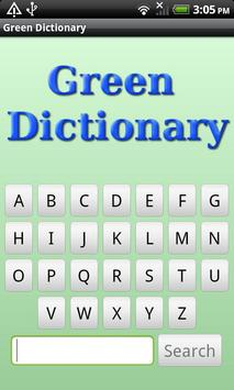 Eco & Green Dictionary poster
