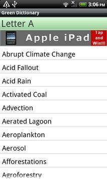 Eco & Green Dictionary apk screenshot