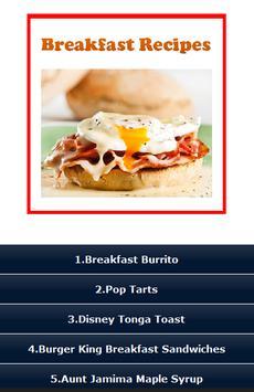 Breakfast Recipes ! poster